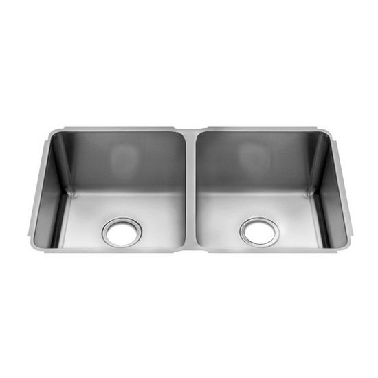 JULIEN Classic 3232 Undermount 16 Gauge Stainless Steel Double Bowl ...