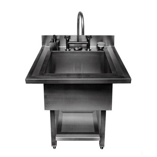 Julien Urbanedge 3865 Pedestal 16 Gauge Stainless Steel Single Bowl