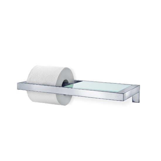 Blomus Menoto Wall Mounted Toilet Paper Holder-w/Glass Shelf-Menoto