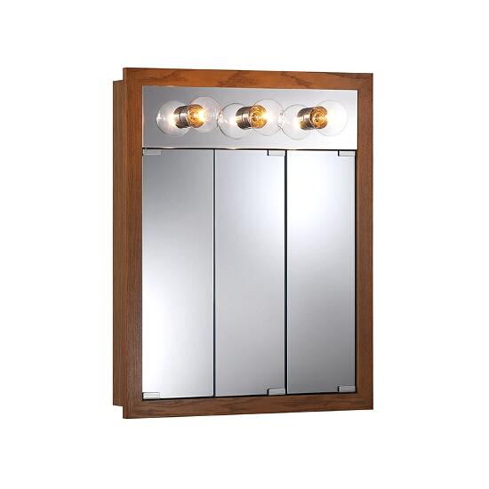 Honey Oak Cabinets Photos 12 Of 24: Granville Surface Mount 3 Door Medicine Cabinet W/ Classic