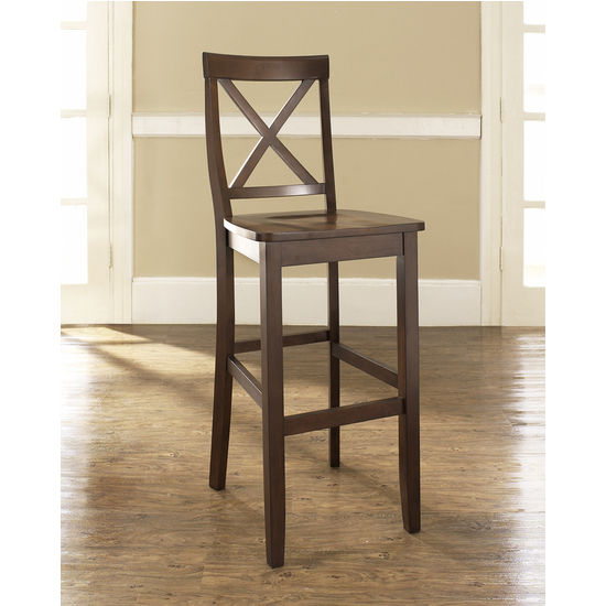 Crosley Furniture X Back Bar Stool In Black Or Mahogany