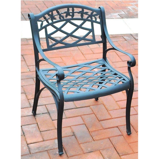 Crosley Furniture Sedona Cast Aluminum Arm Chair in Charcoal Black Finish
