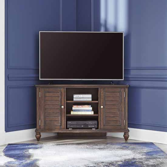 Corner Entertainment Stand - Lifestyle View 1