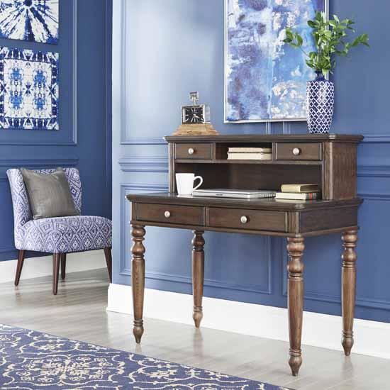 2-Piece Set - Writing Desk & Hutch - View 1