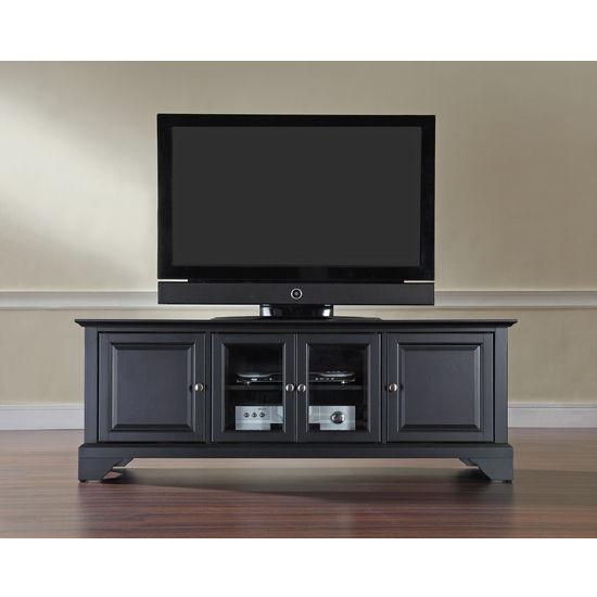 """Crosley Furniture LaFayette 60"""" Low Profile TV Stand in Black Finish"""