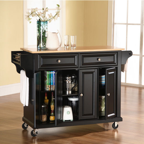 Attirant Crosley Furniture Natural Wood Top Kitchen Cart/Island