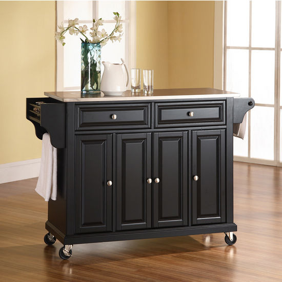 Crosley Furniture Roots Rack Natural Industrial Kitchen: Crosley Furniture Stainless Steel Top Kitchen Cart Or