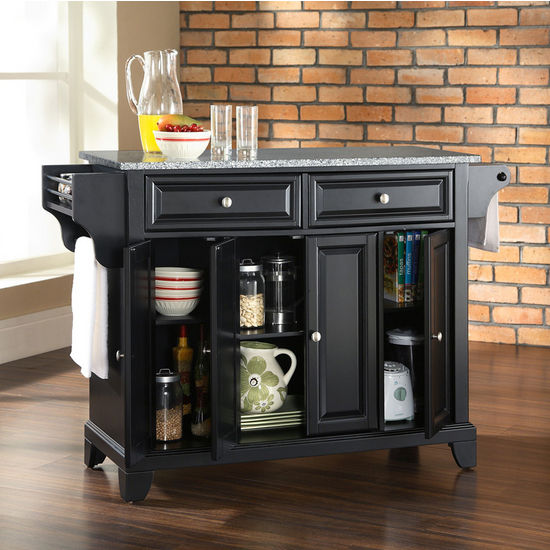 Crosley Furniture Newport Solid Granite Top Kitchen Island