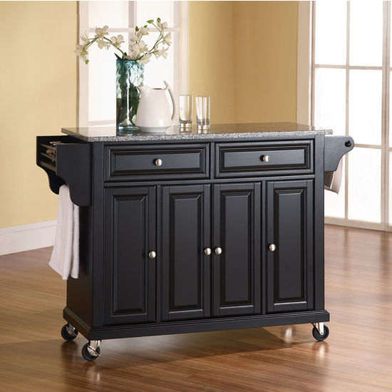 Crosley Furniture Solid Granite Top Kitchen Cart/Island