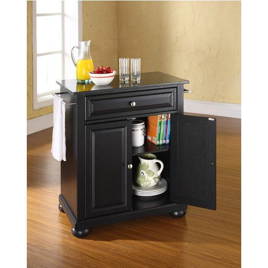 Crosley Furniture Alexandria Solid Black Granite Top