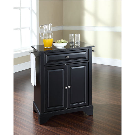 Crosley Furniture LaFayette Solid Black Granite Top