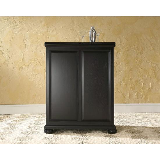 Alexandria Expandable Home Bar Liquor Cabinet: Crosley Furniture Alexandria Expandable Bar Cabinet In