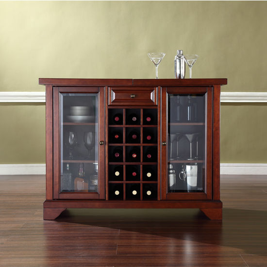 Crosley Furniture LaFayette Sliding Top Bar Cabinet ...