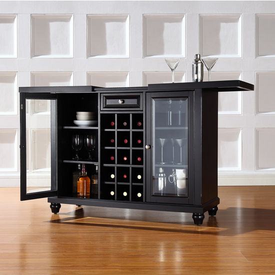 Crosley Furniture Cambridge Sliding Top Bar Cabinet ...