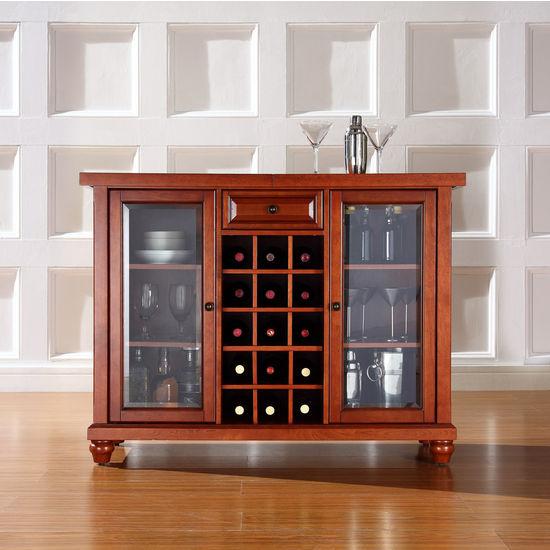 Crosley Furniture Cambridge Sliding Top Bar Cabinet
