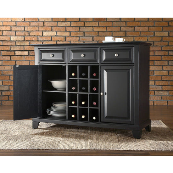 Crosley Furniture Newport Buffet Server / Sideboard Cabinet with Wine Storage