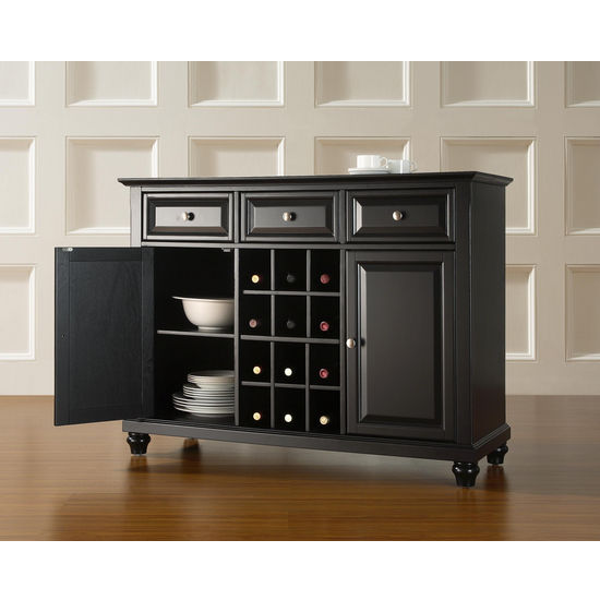 Crosley Furniture Cambridge Buffet Server / Sideboard Cabinet with Wine Storage