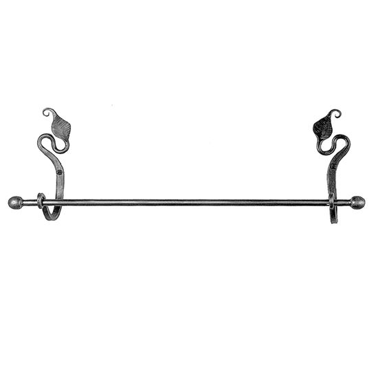 "Acorn Handforged Designs Leaf 16"" Towel Bar"