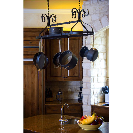 Advantage Components Ornamental Expandable Oval Pot Rack