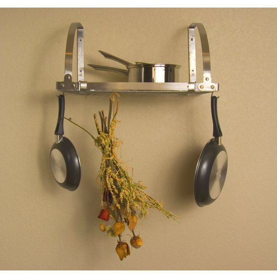 Advantage Components Expandable Stainless Wall Mount Pot Rack
