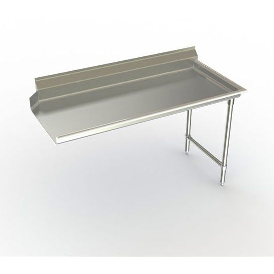 Aero Right Handed Stainless Steel  3CD-R Dish Table