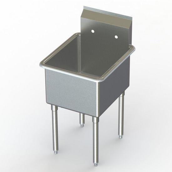 Aero NSF Single Bowl Deluxe Sinks, No Drainboard