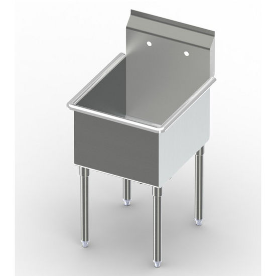 Aero Non-NSF Single Bowl Deluxe Sinks, No Drainboard