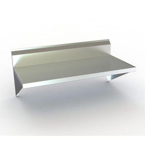 Aero TWMV Series Wall-Mounted Table w/ Backsplash & Marine Edge