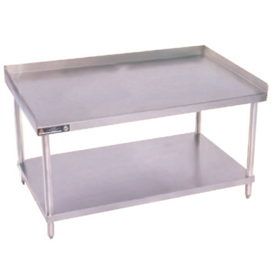 Work Tables Gauge Stainless Steel Grill Stands W Adjustable - Stainless steel table with backsplash and sides
