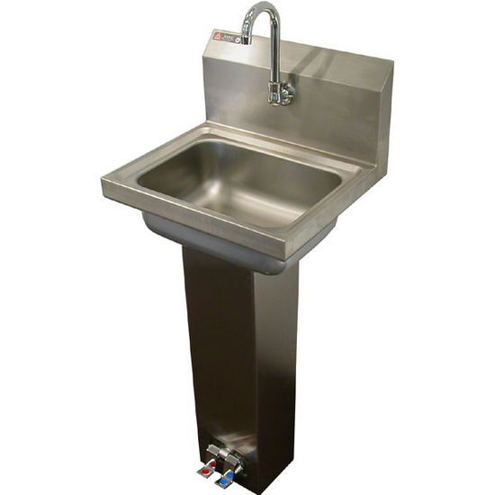 Sinks Foot Pedal Operated Stainless Steel Sink W Faucet