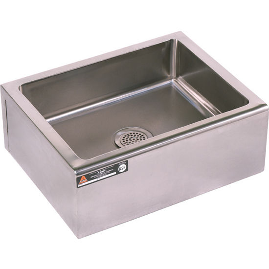 Aero floor-mounted stainless steel mop sink