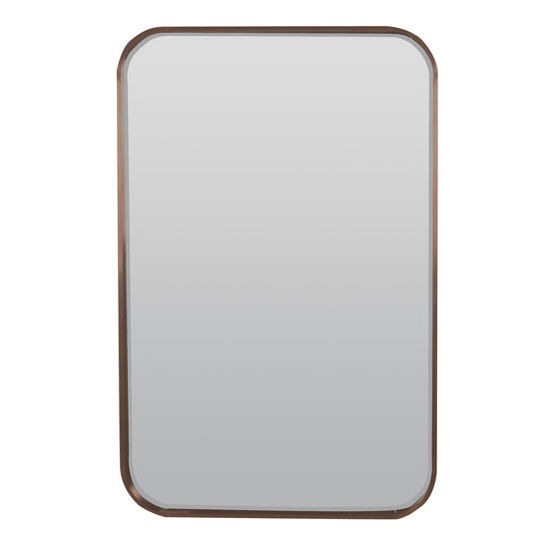 Curve Collection Rectangle Stainless Steel Decorative Framed Mirror ...