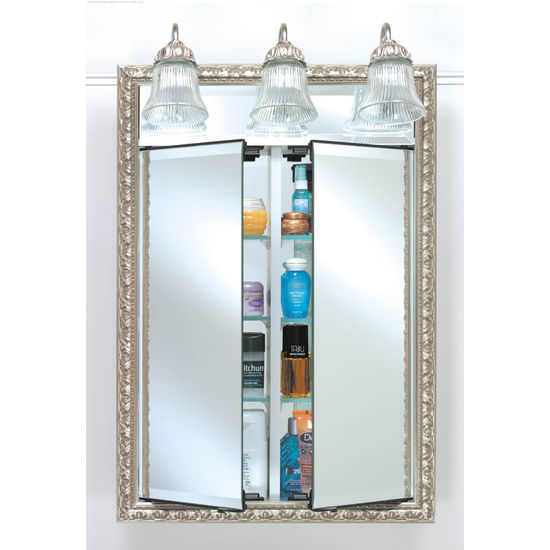 Afina Signature Collection Double Door Medicine Cabinet W/ Traditional Light  W/ Multiple Group Finishes