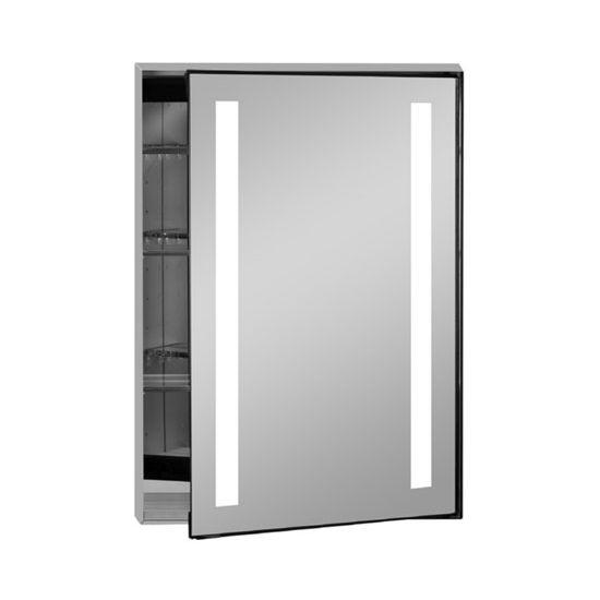 illume collection rectangle backlit led medicine cabinets w inside. Black Bedroom Furniture Sets. Home Design Ideas