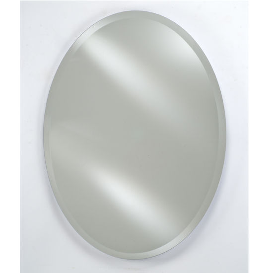 "Afina AF-RM-326-CR-C, Radiance 18"" W - 24"" W Oval Frameless with Tilt Contemporary Brackets"