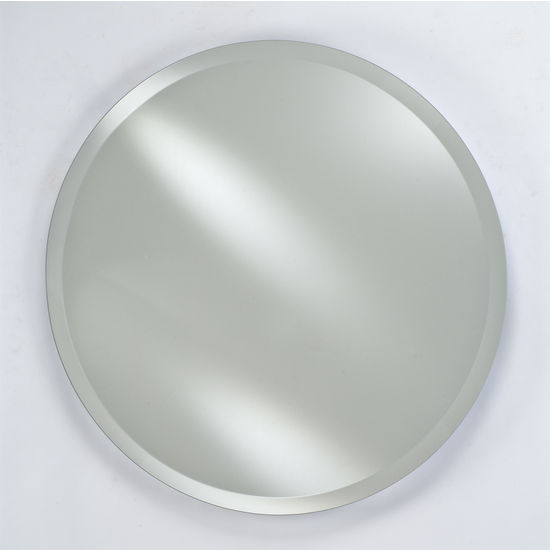 Bathroom mirrors radiance round frameless with tilt Polished chrome bathroom mirrors