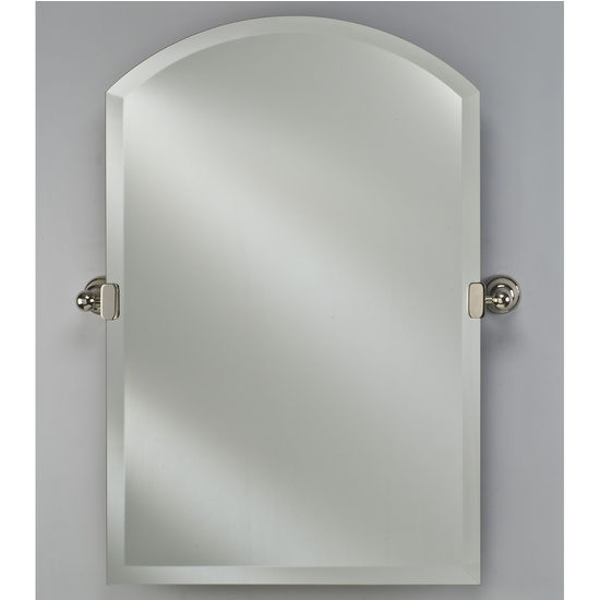 Afina Frameless Radiance Arch Top Mirror With Adjustable Tilting Bracket In Polished Chrome 20 1 4 W X 30 H