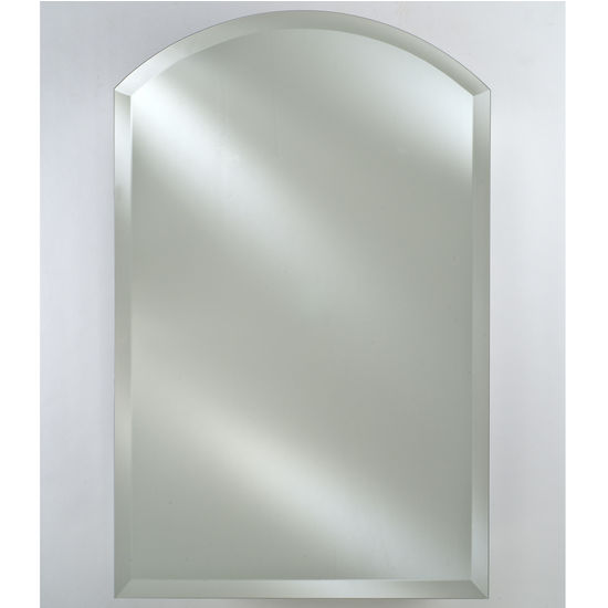 "Afina AF-RM-525-CR-C, Radiance 16"" W -24"" W Arch Top Frameless with Tilt Contemporary Brackets"