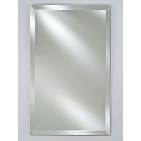"Afina AF-RM-616-CR-C, Radiance 16"" W -24"" W Rectangular Frameless with Tilt Contemporary Brackets"