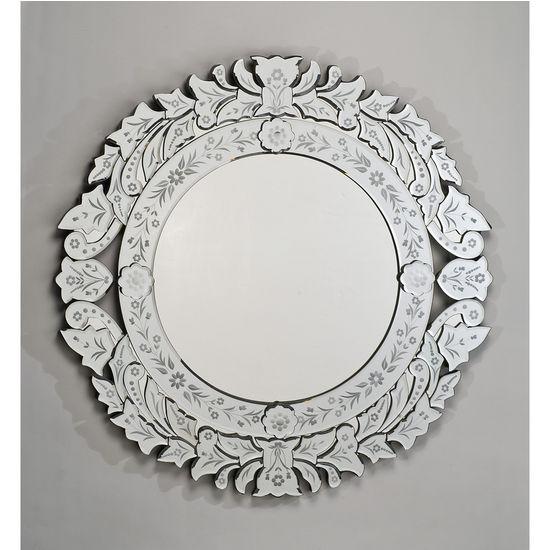 Afina Round Venetian Wall Mirror