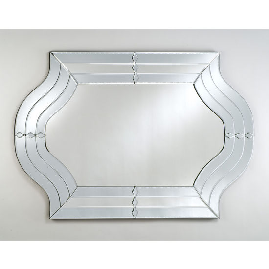 Afina Contemporary Shaped Venetian Mirror