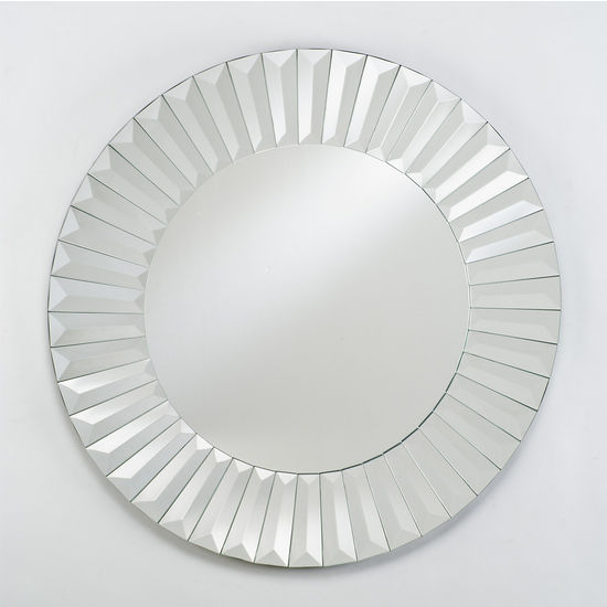 Afina Round Contemporary Venetian Wall Mirror