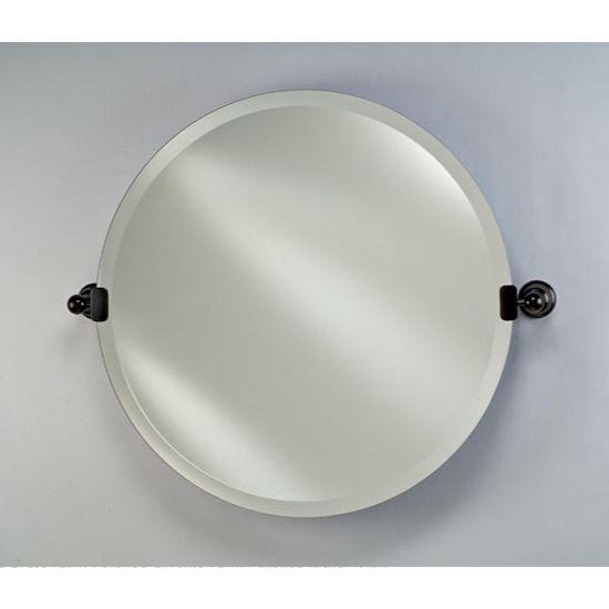 Radiance round bathroom mirror by afina for Round tilting bathroom mirror