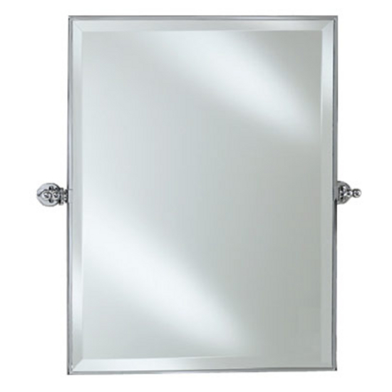 Chrome Framed Bathroom Mirrors bathroom mirrors - afina radiance framed rectangular bevel wall