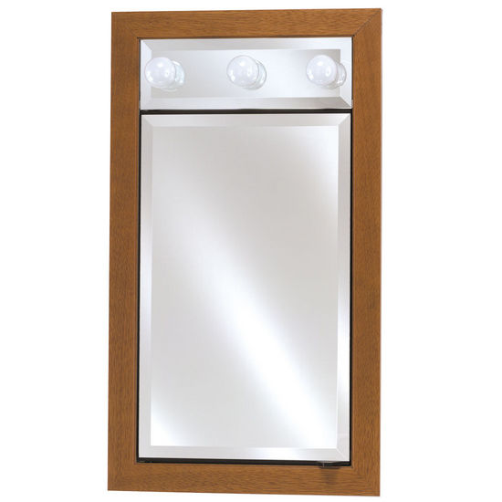 Single Door 17 x 34 Signature Collection Medicine Cabinets with Lights by Afina