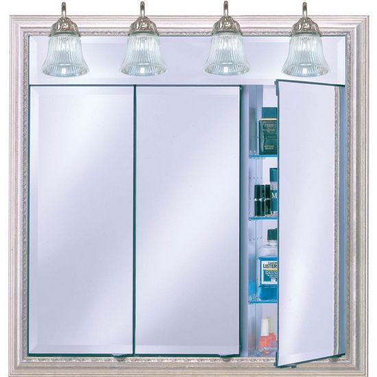 Bathroom Medicine Cabinets Af Tdlt Lighted Triple Door
