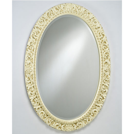 Afina Oval Timeless Traditional Wall Mirror with Intricate Design