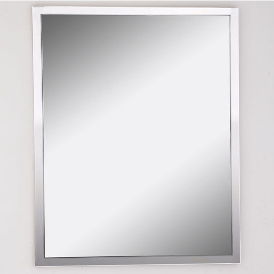 Afina Urban Steel Rectangle Wall Mirror In Polished Or Brushed Stainless Multiple Sizes With