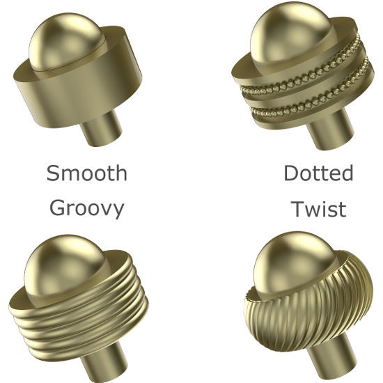 "Allied Brass 1-1/2"" Cabinet Knob - 101A"
