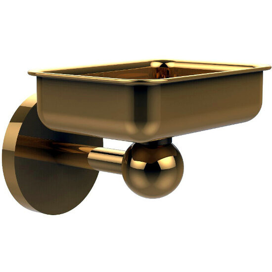 Allied Brass Skyline Collection Soap Dish w/ Liner, Standard Finish, Polished Brass